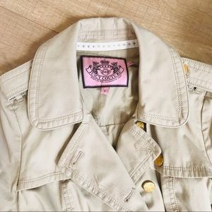 Juicy Couture Jackets & Coats - Juicy Couture Ruffled Trench Coat C0191